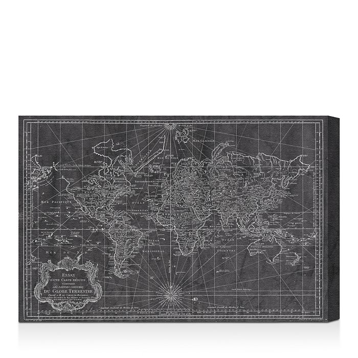 "Oliver Gal - World Map 1778 Wall Art, 15"" x 10"""