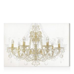 Oliver Gal Chandelier Diamond Wall Art, 15 x 10