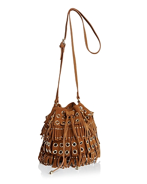 Ollie & B Fringe Grommet Suede Bucket Bag - 100% Exclusive