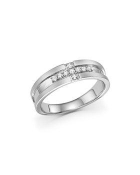 Bloomingdale's - Men's Diamond Band Ring in 14K White Gold, .20 ct. t.w.- 100% Exclusive