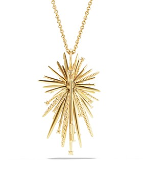 David Yurman - Supernova Pendant Necklace with Diamonds in 18K Gold