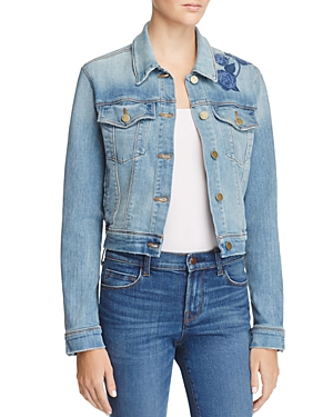 J Brand Embroidered Harlow Denim Jacket - 100% Exclusive