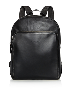 Transform your commute with the smooth and streamlined modern style of this luxe leather backpack from Longchamp.
