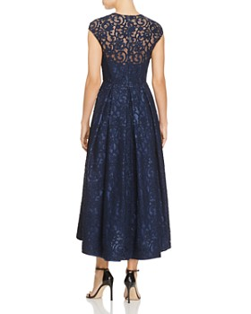Carmen Marc Valvo - Embellished Lace High Low Dress