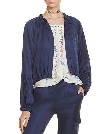 BCBGMAXAZRIA - Cruz Blouson Bomber Jacket - 100% Exclusive