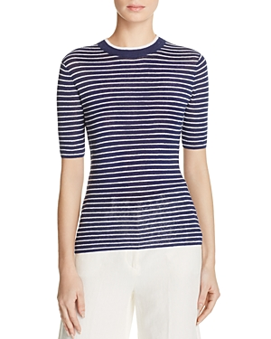 Theory Hemitza Striped Sweater