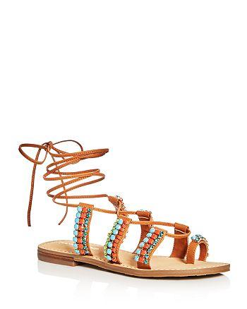 IVANKA TRUMP - Women's Monday Embellished Lace Up Sandals