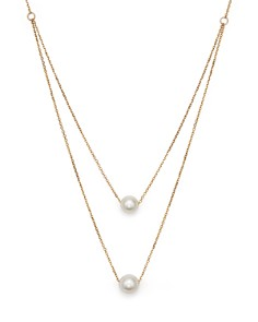 "Bloomingdale's - Cultured South Sea Pearl Two Row Necklace in 14K Yellow Gold, 17"" - 100% Exclusive"