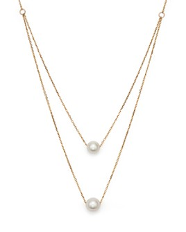 """Bloomingdale's - Cultured South Sea Pearl Two Row Necklace in 14K Yellow Gold, 17"""" - 100% Exclusive"""