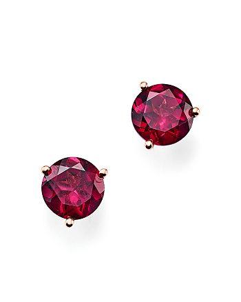 Bloomingdale's - Rhodolite Garnet Stud Earrings in 14K Rose Gold- 100% Exclusive