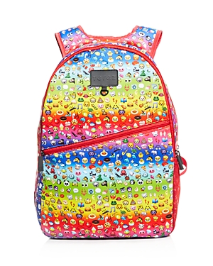 Terez Girls' Rainbow Emoji Neoprene Backpack