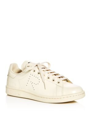 ADIDAS BY RAF SIMONS Raf Simons For Adidas Unisex Stan Smith Lace Up Sneakers, White/Cream