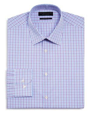 The Men's Store at Bloomingdale's Overcheck Regular Fit Dress Shirt - 100% Exclusive thumbnail