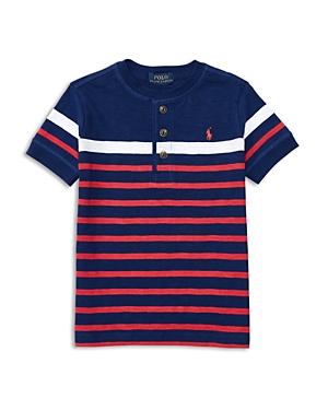 Ralph Lauren Childrenswear Boys' Striped Henley Tee - Little Kid, Big Kid