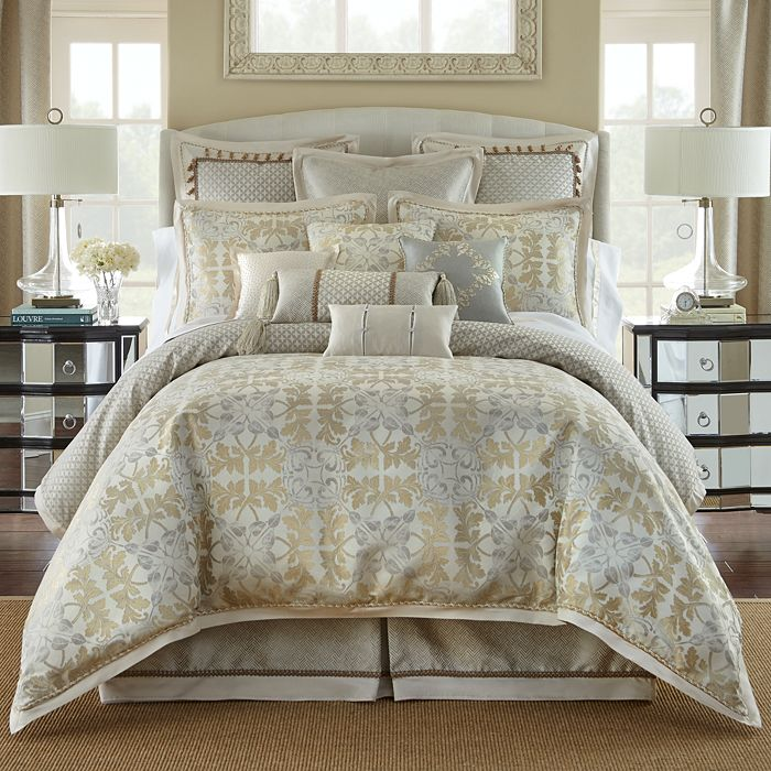 Comforter Sets Queen.Waterford Olivette Leaf Motif Comforter Set Queen Home Bloomingdale S