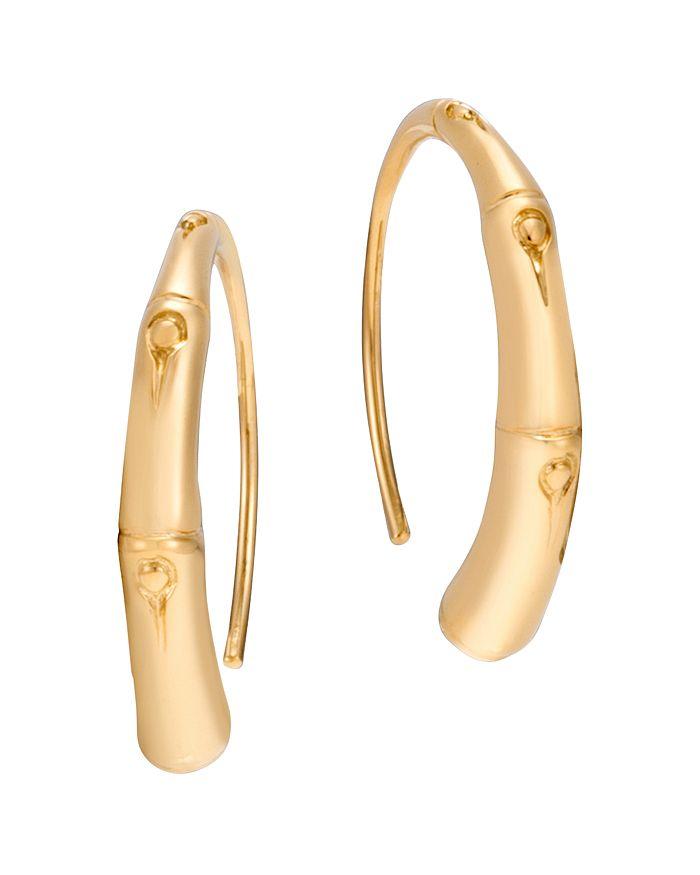 JOHN HARDY - 18K Yellow Gold Bamboo Small Sweep Earrings