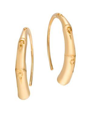 John Hardy 18K Yellow Gold Bamboo Small Sweep Earrings