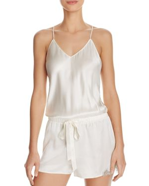 Ginia Chantilly Lace Silk Romper