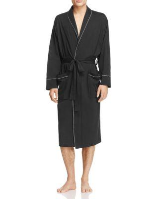 DANIEL BUCHLER Peruvian Pima Cotton Robe in Black