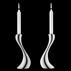 Georg Jensen - Cobra Candleholders, Set of 2 by Georg Jensen