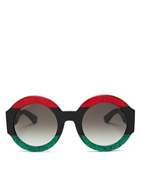 Gucci - Women's Oversized Round Sunglasses, 51mm