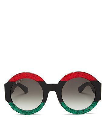 7198fe5f2a91 Gucci Women's Oversized Round Sunglasses, 51mm | Bloomingdale's