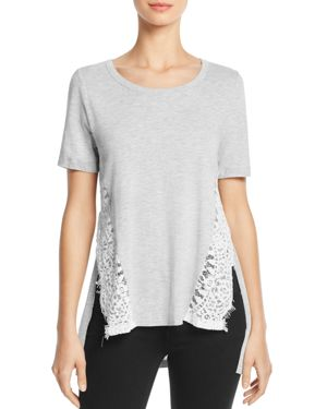 French Connection Hopper Lace-Inset Tee