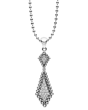 Click here for Lagos Sterling Silver and Diamond Marquise Pendant... prices