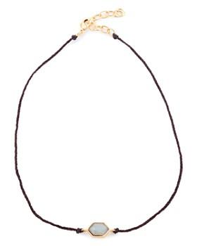 """Margaret Elizabeth - Hex Choker Necklace, 12"""""""