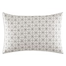 "Vera Wang Geometric Stitched Squares Decorative Pillow, 15"" x 22"""