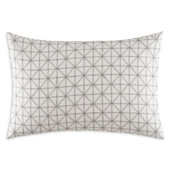 "Vera Wang - Geometric Stitched Squares Decorative Pillow, 15"" x 22"""