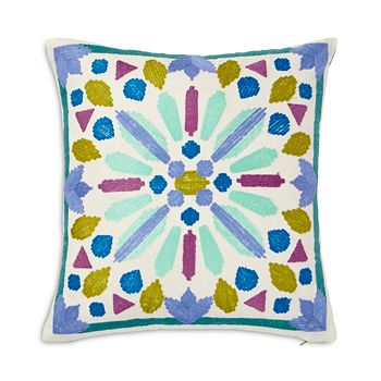 "bluebellgray - Samara Crewel Embroidered Pillow, 16"" x 16"""