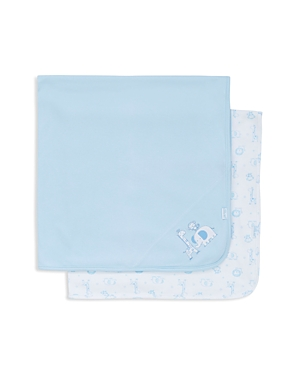 Little Me Infant Boys Safari Pals Knit Blankets 2 Pack