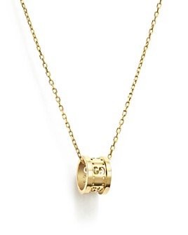 """Gucci - 18K Yellow Gold Icon Twirl Pendant Necklace, 16"""""""