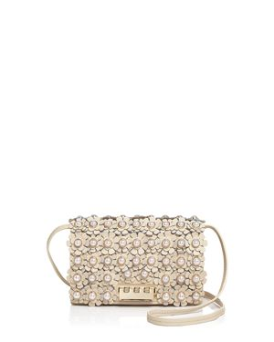 Zac Zac Posen Earthette Faux-Pearl Floral Leather Crossbody