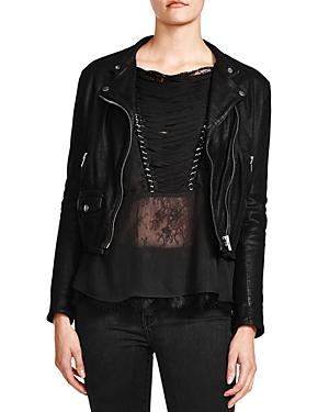 The Kooples Cruz Leather Moto Jacket