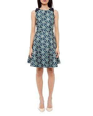 Ted Baker Kaleidoscope Bow-Detail Dress