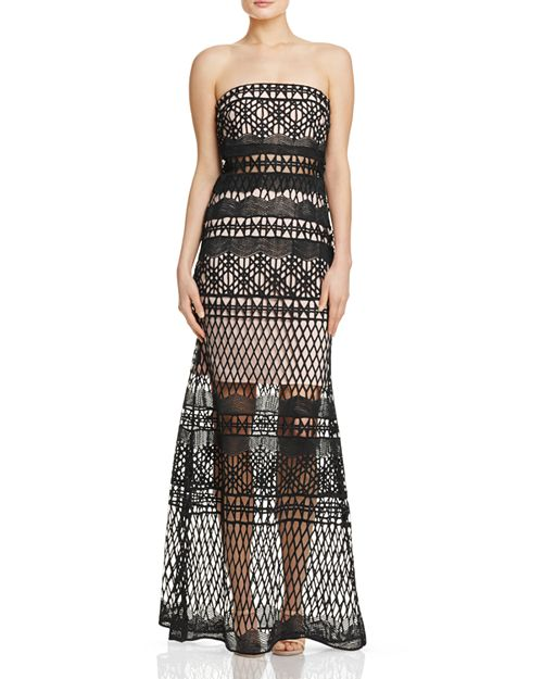 LM Collection Strapless Crochet Lace Gown | Bloomingdale\'s