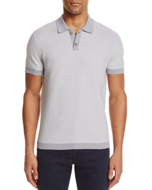 The Men's Store at Bloomingdale's Cotton Two Tone Regular Fit Polo Sweater - 100% Exclusive