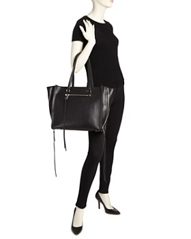 Rebecca Minkoff - Regan Always On Side Zip Leather Tote