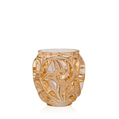 Lalique - Small Gold Luster Tourbillons Vase
