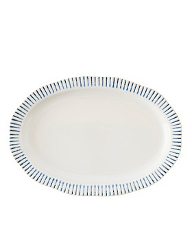 "Juliska - Sitio Stripe Indigo 17"" Serving Platter"