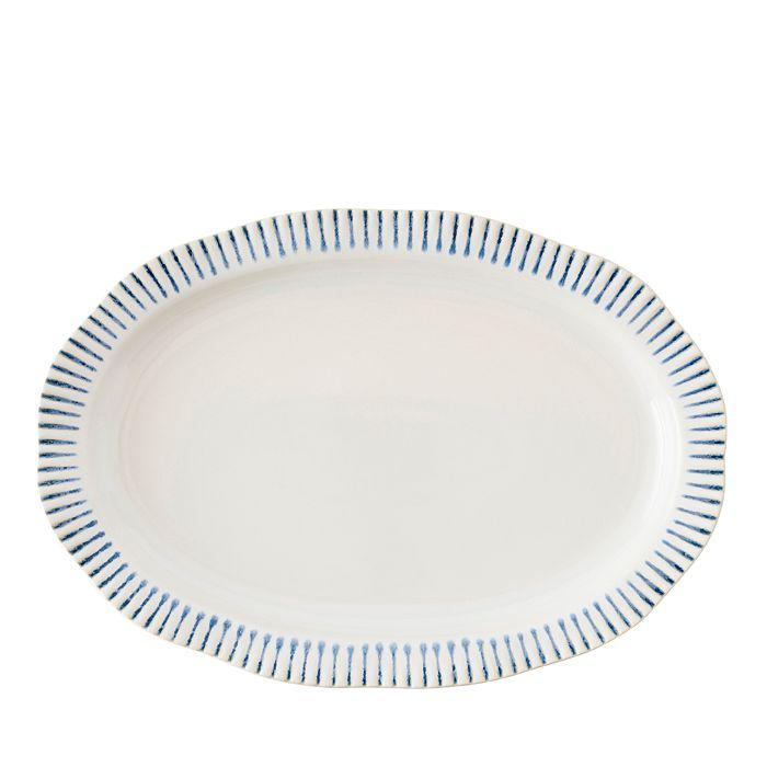 """Juliska - Sitio Stripe Indigo 17"""" Serving Platter"""