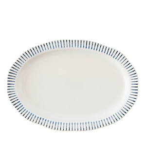 Juliska Sitio Stripe Indigo Serving Platter