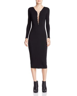 T by Alexander Wang Lace-Up Jersey Dress