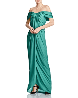Paule Ka Off-the-Shoulder Silk Gown