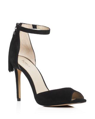 Women'S Anna Suede Ankle Strap High-Heel Sandals in Black