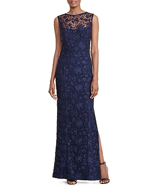 Lauren Ralph Lauren Open-Back Lace Gown