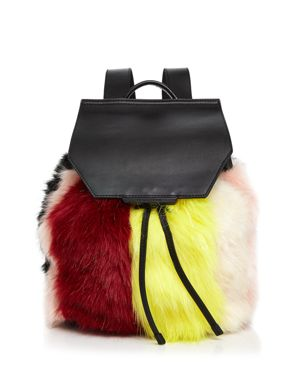 Kendall and Kylie Nancy Multicolor Faux-Fur Backpack 2514902