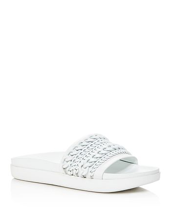 KENDALL and KYLIE - Women's Shiloh Chain Pool Slide Sandals